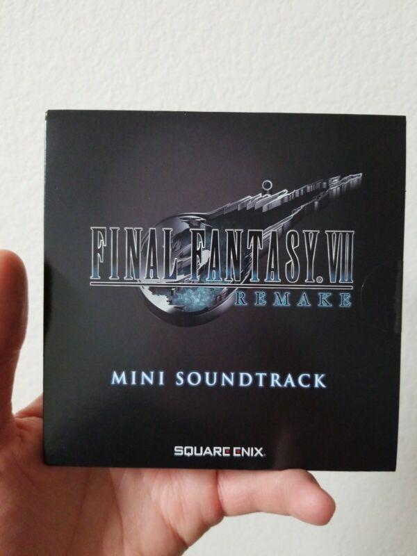 Final Fantasy VII FF7 Remake Deluxe Edition Mini Soundtrack CD Album