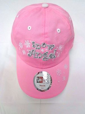 Snow Angel Pink Snowflake New Era Girls Youth Hat Pink Angel Hat
