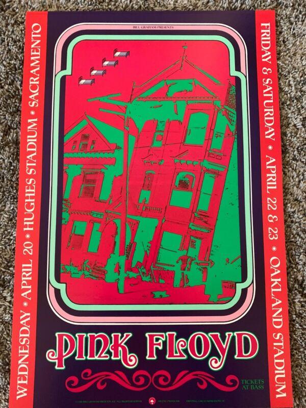 pink floyd poster Hugh Stadium Sacramento.