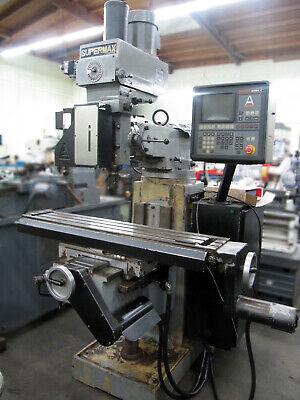 1999 Supermax Ycm-16vs Cnc Knee Type Mill W 3-axis Anilam Control 9x49 Table