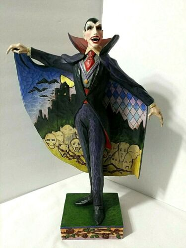Jim Shore LOVE AT FIRST BITE Halloween Vampire Dracula Skulls Cape 2007 Figurine