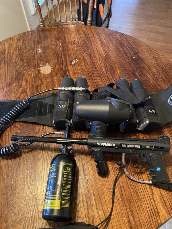 Tippman 98 Custom w Ammo Belt & Tank