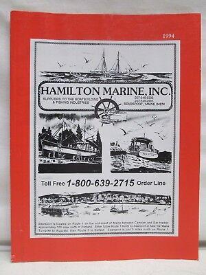 Hamilton Marine Boating Catalog 1994 Boat Building and Fishing Supplies Nautical