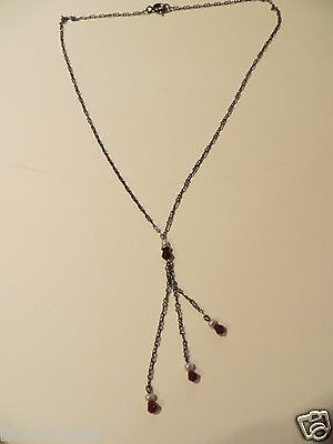 Antique-Art Deco/Victorian Sterling Ruby-Seed-Pearl-Filigree-Choker Necklace