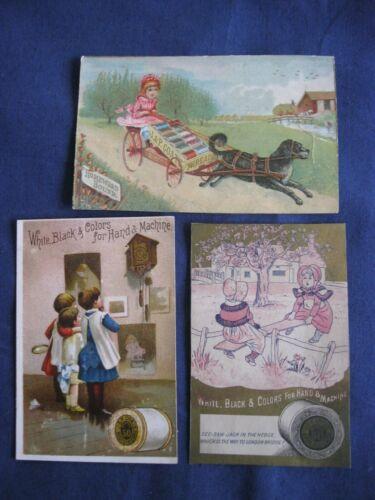 Victorian Trade Card J&P Coats Thread 1887 Calendar Nursery Rhyme Dog Cart  G