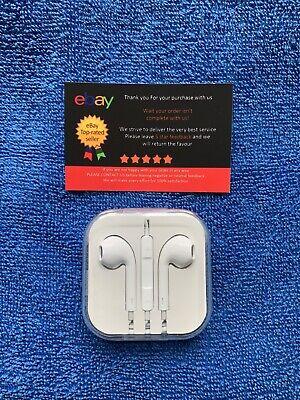 •New Apple Headphones Earphones Handsfree With Mic for iPhone 5s 6 6s plus iPad•