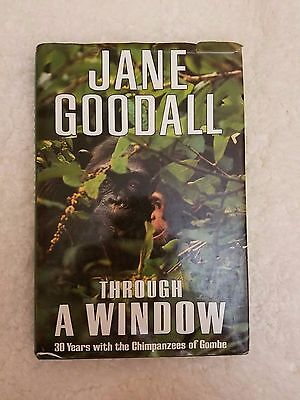 Through A Window By Jane Goodall  1990  Hardcover