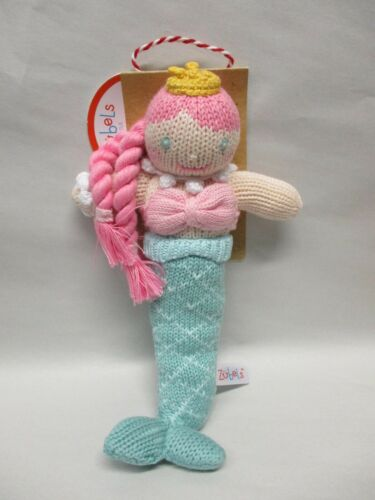 Zubels Walking Mermaid Baby Rattle - 100% Cotton