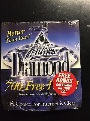 Collectors Cd Aol America Online 700 Hours Free Sealed Diamond 5 0