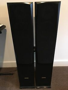 Tower speakers with built in sub