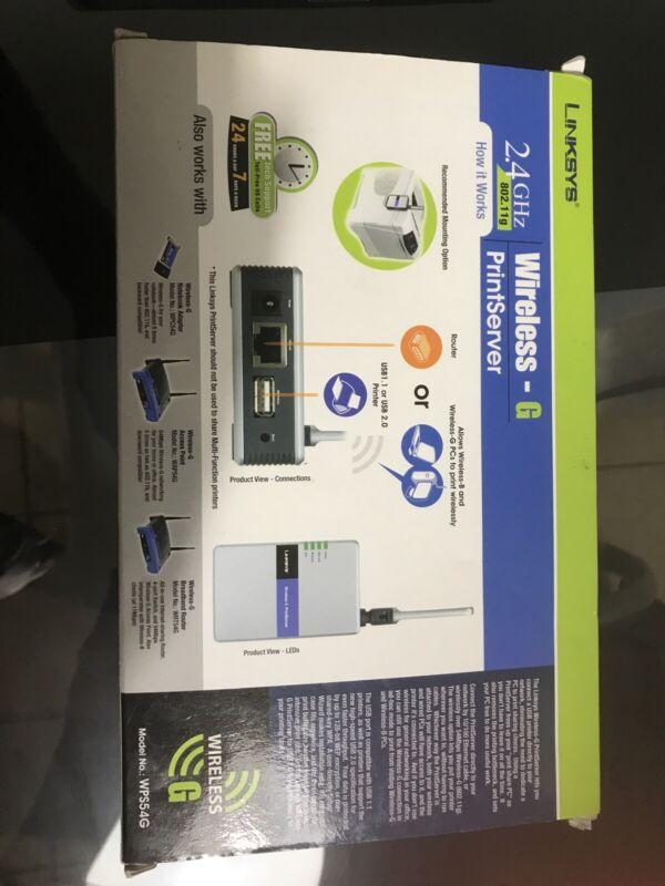 linksys wireless g print server