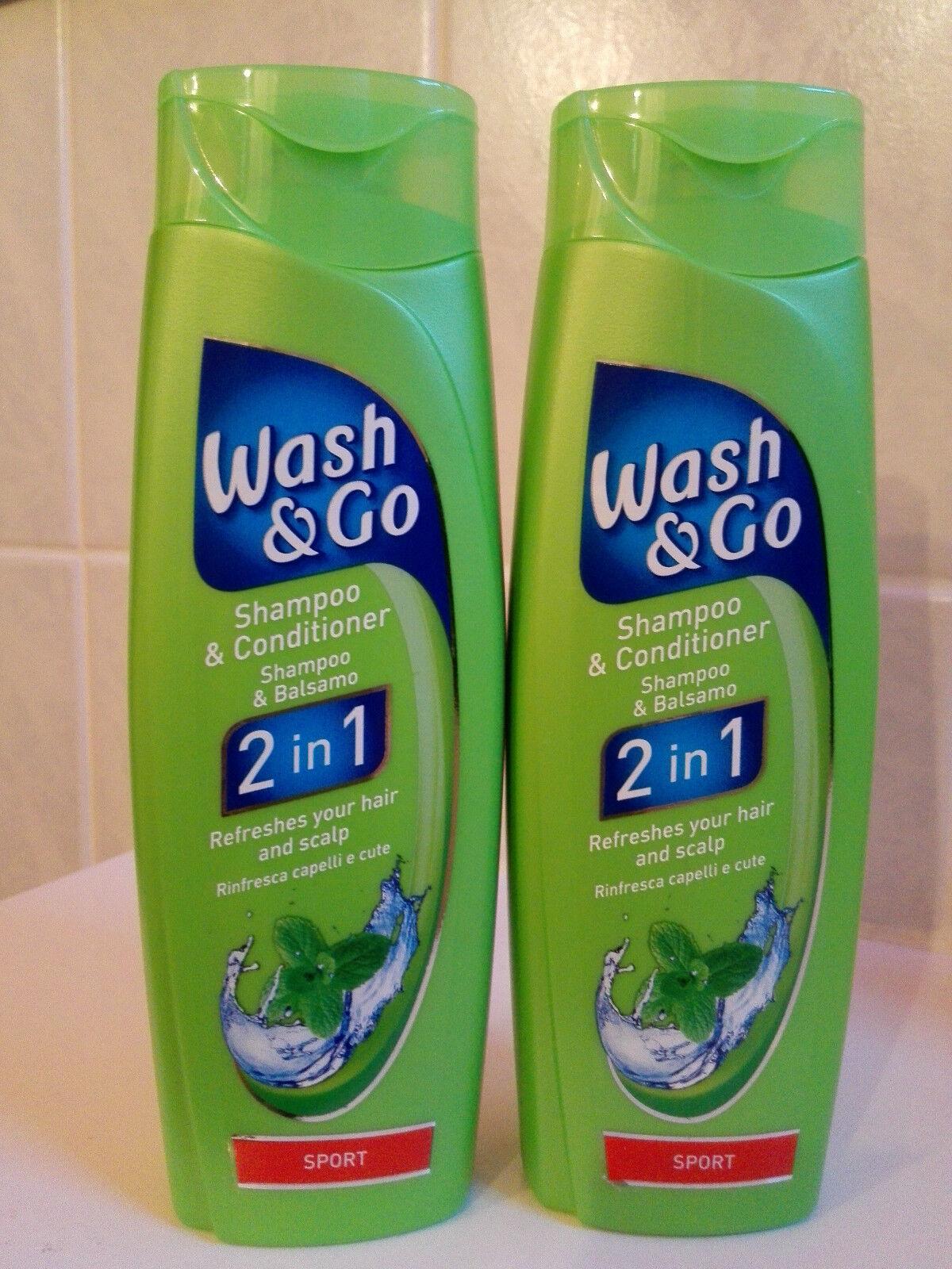 2 Flaschen Wash and Go SPORT für normales Haar 2 in 1