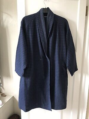Yacco Maricard Navy Striped 100% Light Cotton Coat, One Size Oversized, used for sale  Shipping to Ireland