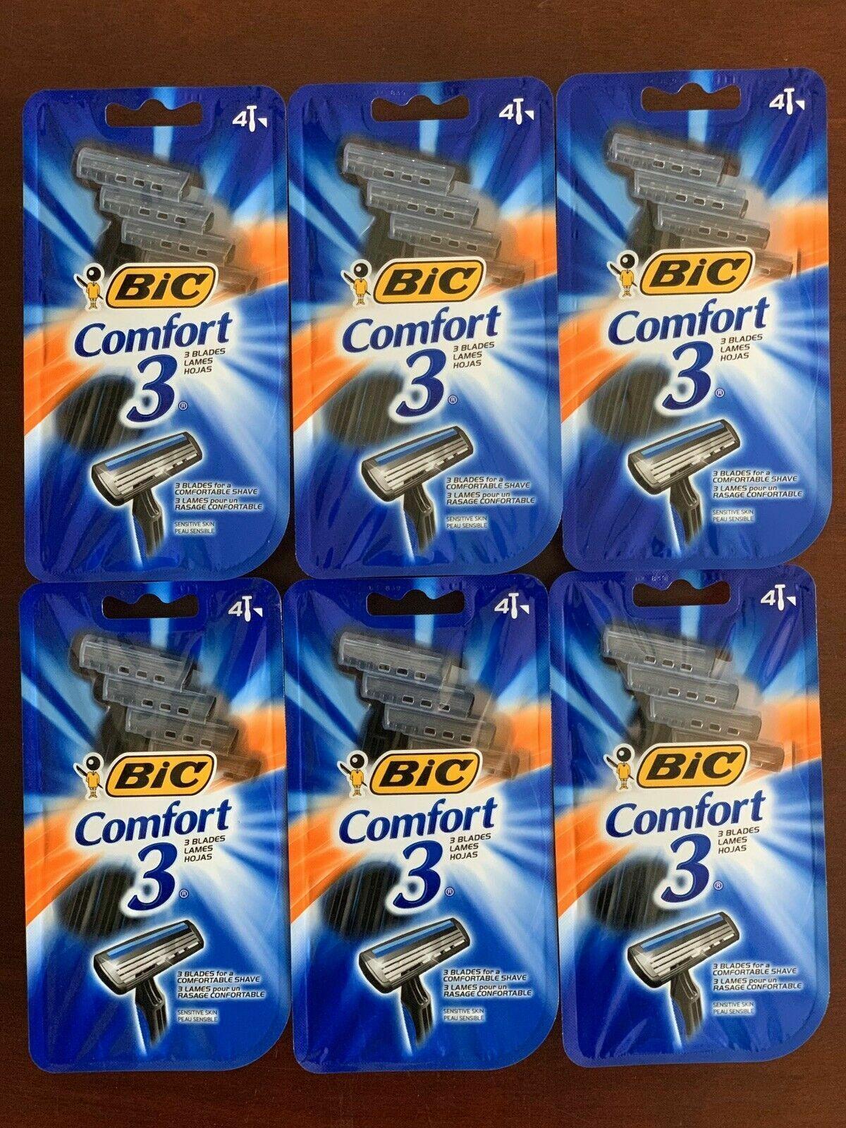 Bic Comfort 3 Men Razor 4 Size 4ct Bic Comfort 3 Men Razor 4