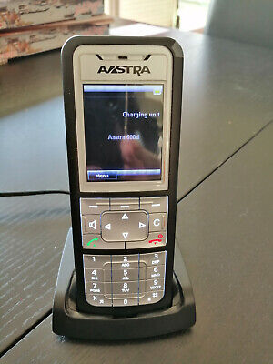DECT Phone AASTRA Mitel Handset 612d with battery Varta and desktop charger EU