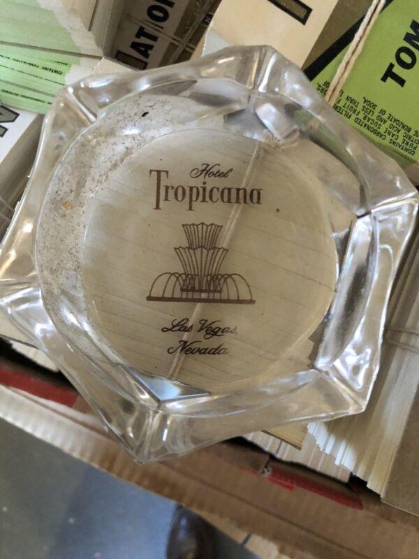Vintage Hotel Tropicana Casino Las Vegas Nevada Glass Ashtray Made In Japan Nos