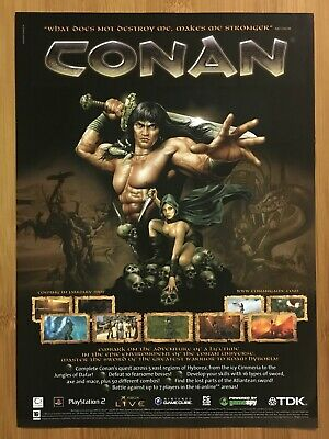 UK Exclusive CONAN Xbox 2004 Vintage Print Ad/Poster Official Authentic Art Rare