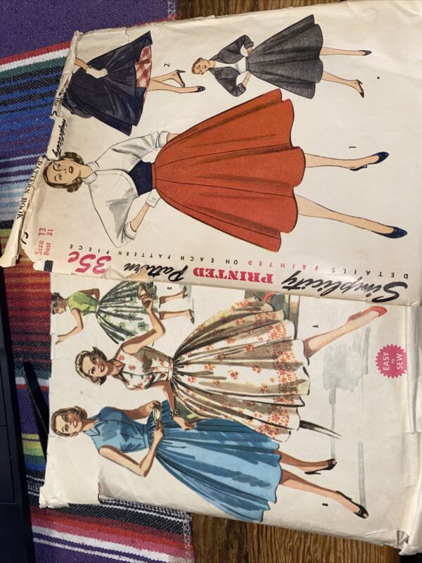 Vintage Simplicity and McCall 1950s Patterns