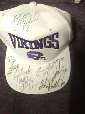 Minnesota Vikings Team Signed Cap John Randle McDaniel Orlando Thomas (deceased)