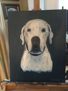Pet Portrait Painting in time for Christmas