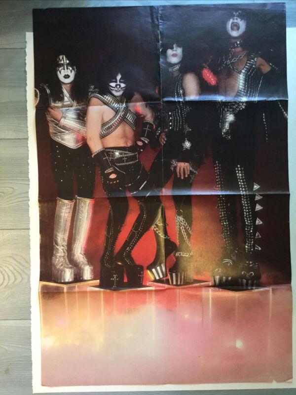 "Kiss Poster Vinatage 31.5"" X 21.75"""