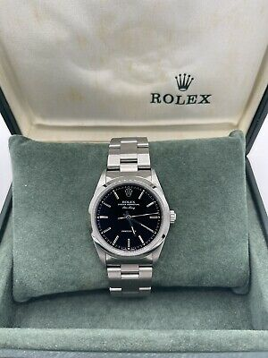 Rolex Air-King 14000 34mm Stainless Steel Black Dial 1996