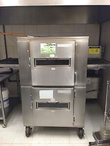 Double stack conveyor pizza oven