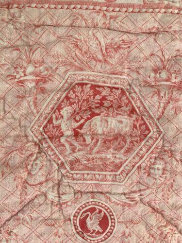 Pink Toile de Jouy fabric quilt textile  Compilation toile