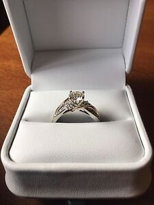 Engagement ring and wedding band (custom made/design)