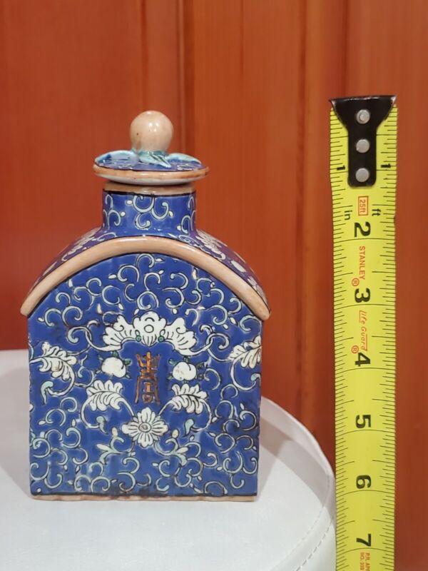 vintage Tea Caddy Porcelain