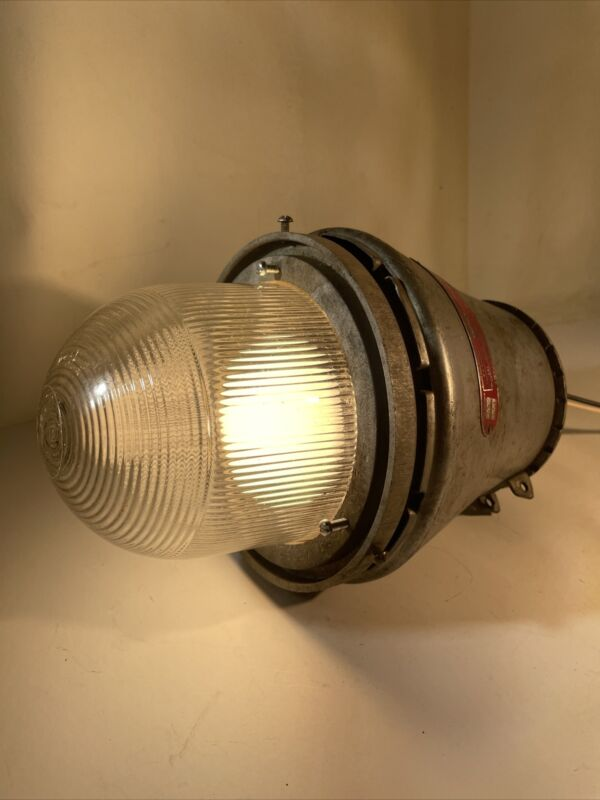 Vintage Appleton industries explosion proof industrial light and shade