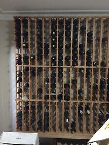Pine timber wine racks