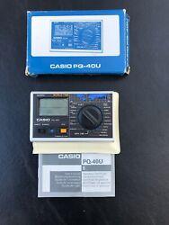 Vintage Casio Quartz World Time Pocket Travel Size Alarm PQ-40U