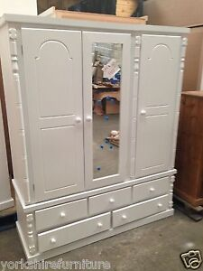 NEW HAND MADE SOLID TRIPLE 5 DRAWER WARDROBE (NO FLAT PACKS) READY ASSEMBLED