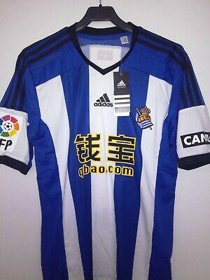 REAL SOCIEDAD 2014-2015 BNWT camiseta shirt trikot maillot maglia adidas