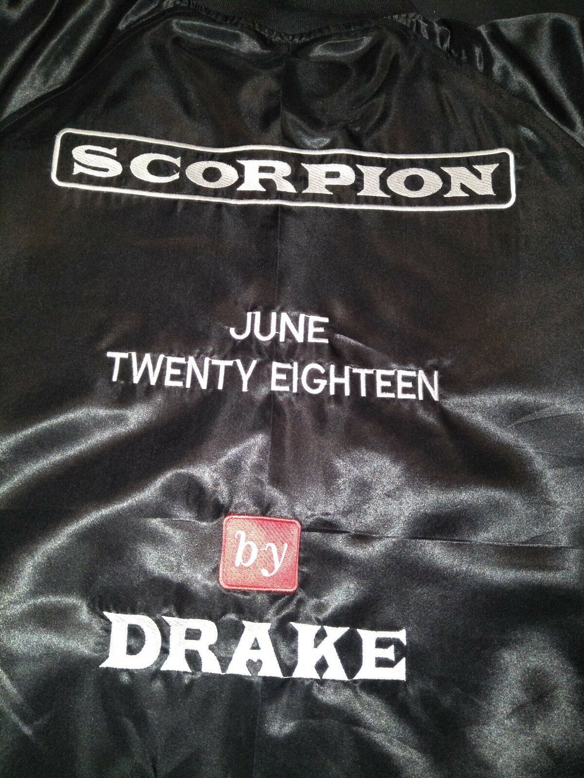 Drake Scorpion June Twenty Eighteen Jacket size US Mens Large