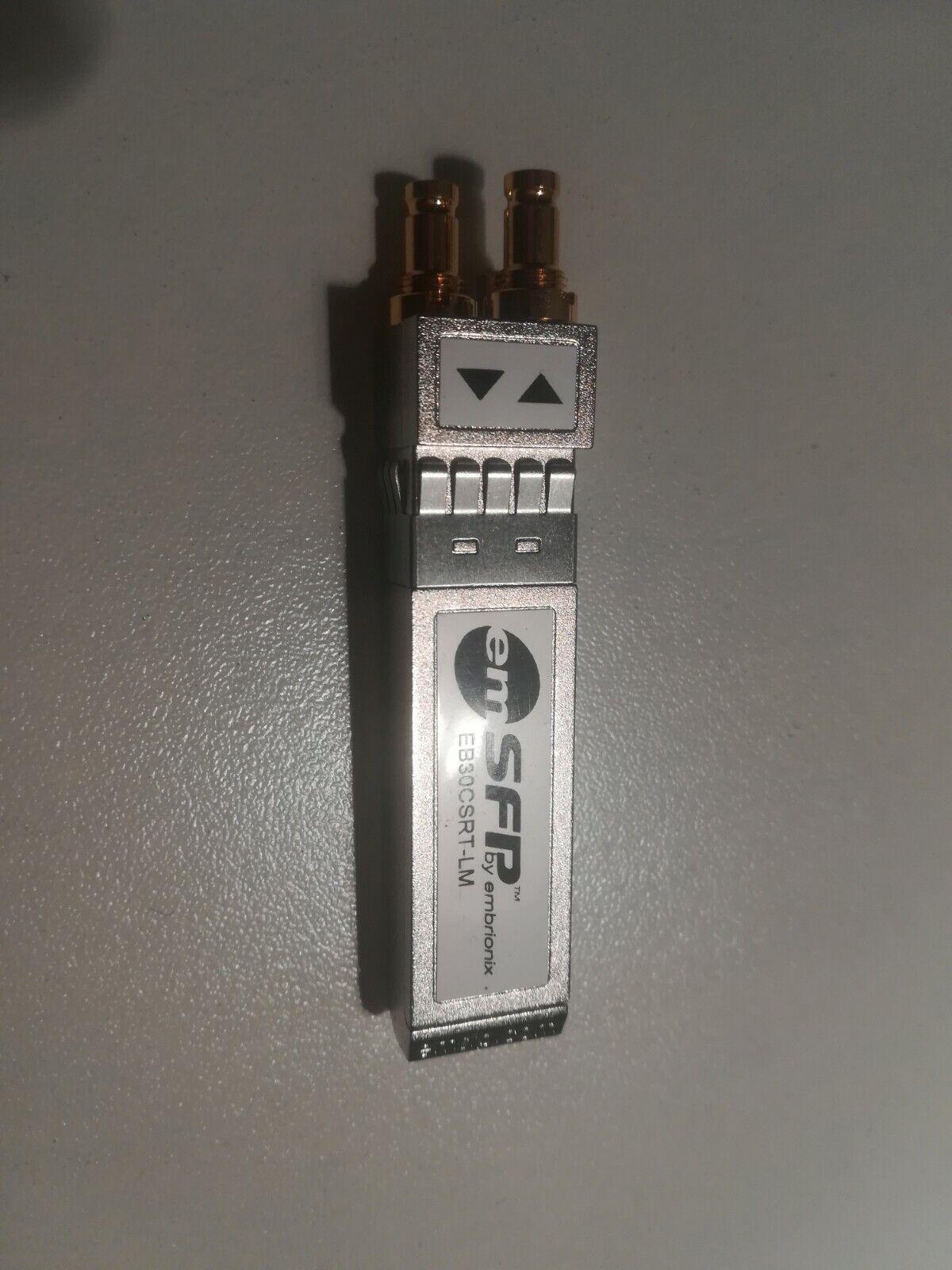 3G/HD/SD/ASI video SFP (emSFP) coaxial, transceiver eb30csrt-lm