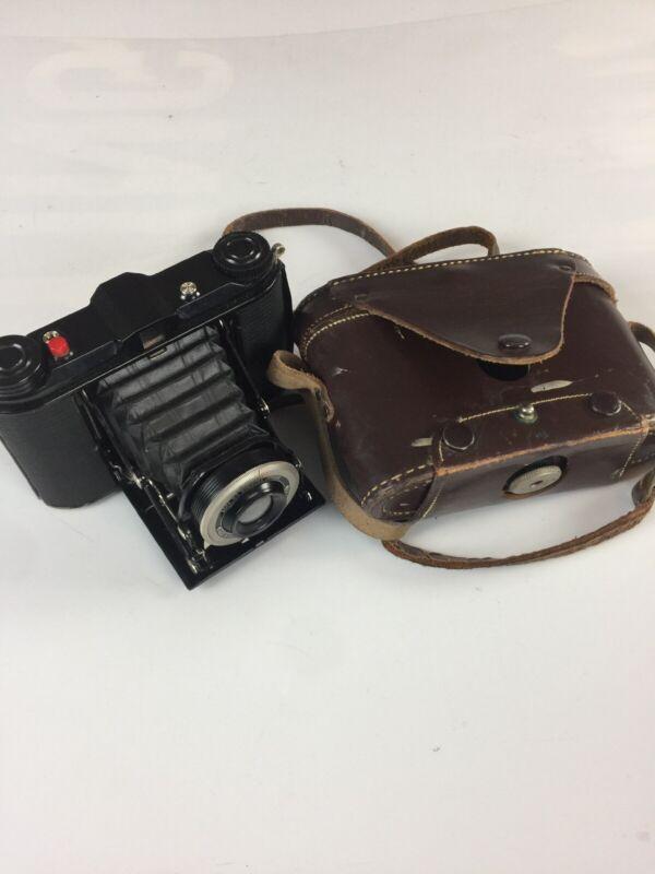 Vintage Agfa Ansco B2 Speedex Junior Folding Film Camerawith case