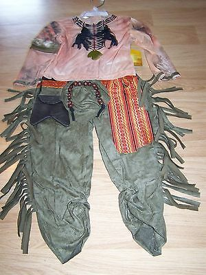 Disney Store Size 4 The Lone Ranger Tonto Indian Costume Pants Top Shirt New (Lone Ranger Costume)