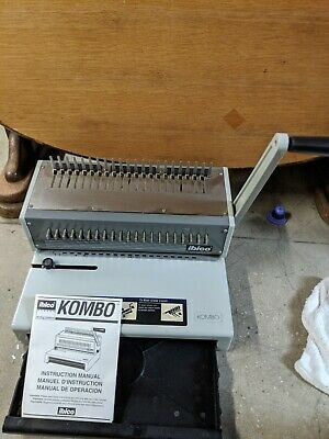 Ibico Kombo Heavy Duty Metal Manual Comb Binding Punch Machine W Manual