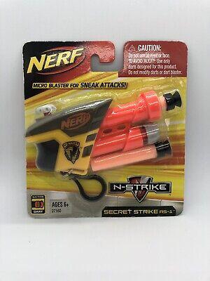 NERF N-STRIKE Secret Strike S.S. AS-1 Micro Keychain Soft Dart Blaster RARE