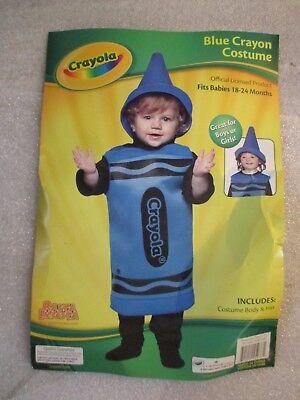 Blue Crayon Halloween Kostüme (Toddler Girl Boy Halloween Costume Crayola BLUE Crayon Hat Foam Sz 18-24 Months)