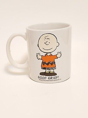 "Peanuts Charlie Brown "" GOOD GRIEF ! "" Lefty Coffee Mug / Left Handed Cup"