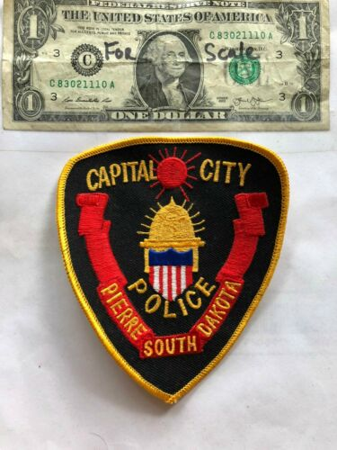 Pierre South Dakota Police Patch (Capitol City) un-sewn in great shape