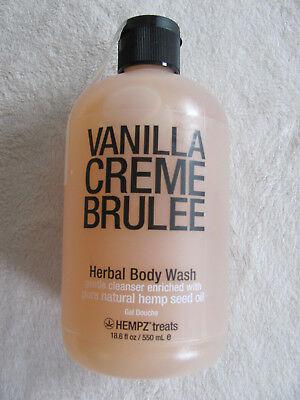 Hempz Treats Vanilla Creme Brulee Herbal Body Wash -Jumbo 18.6 fl oz / 550 ml