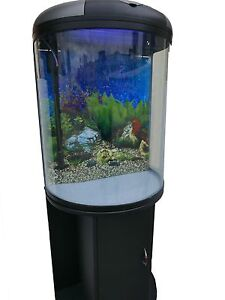 Fish Tank / Aquarium 92L curved glass with LED light & filter Blacktown Blacktown Area Preview
