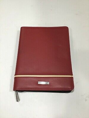Day Runner Personal Organizer Red With Tan Stripe 10 X 7.5 3-ring Binder