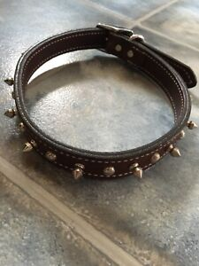 """23"""" Weaver High Quality Leather Dog studded Collar"""