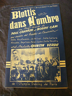 Partition Blottis dans l'ombre Paul Gramon Bobby Gam Quintin Verdu Music Sheet