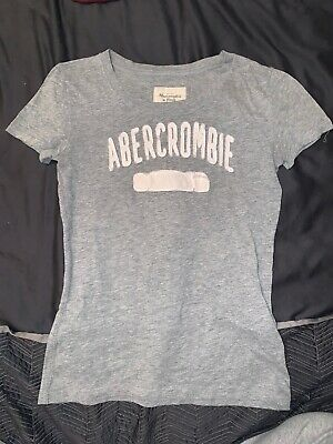 Abercrombie and fitch grey t shirt white logo - womens size small